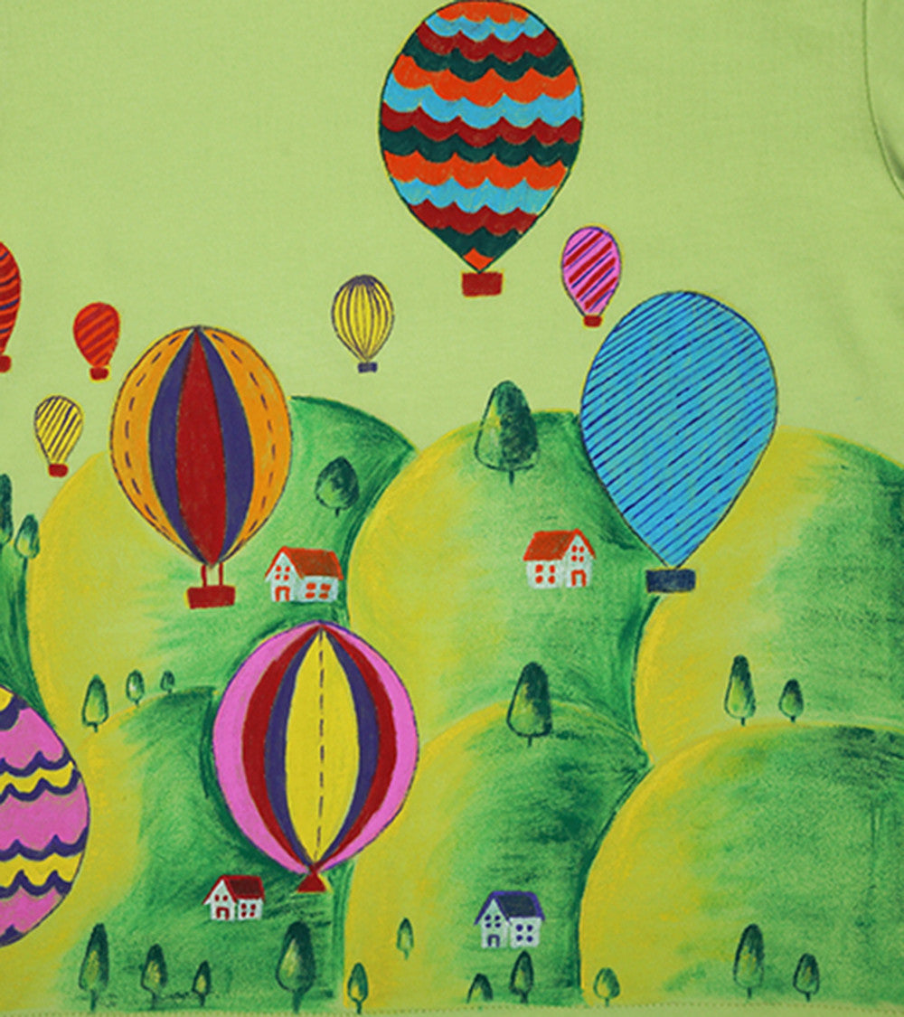 Hand-painted Colorful Baloons T-shirt - RANGRAGE  - 2
