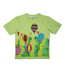 Hand-painted Colorful Baloons T-shirt - RANGRAGE  - 1