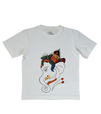 Hand-painted  Baal Ganesha T-shirt - RANGRAGE  - 1