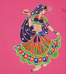 Hand-painted Dancing Girl T-shirt - Rang Rage  - 2