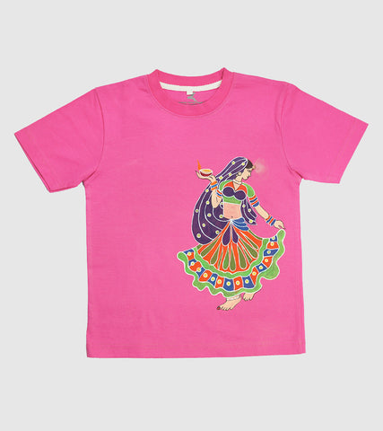 Hand-painted Dancing Girl T-shirt