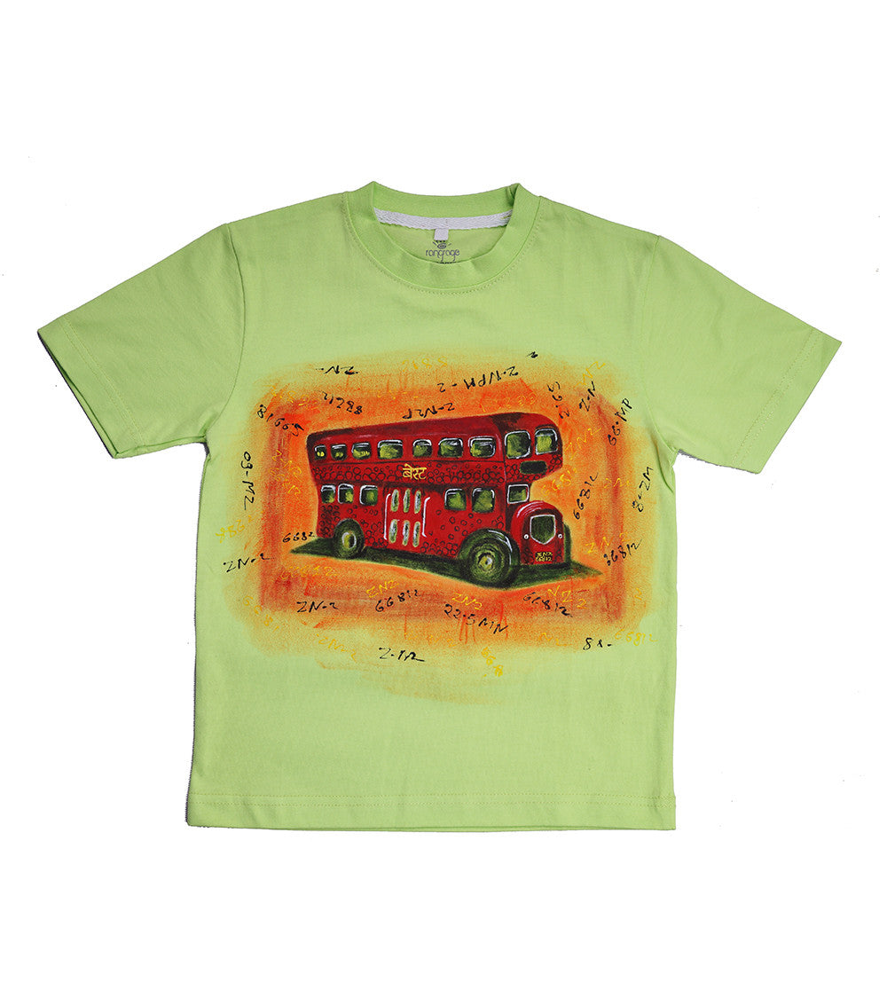 Hand-painted Double Decker T-shirt - RANGRAGE  - 1