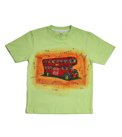 Hand-painted Double Decker T-shirt