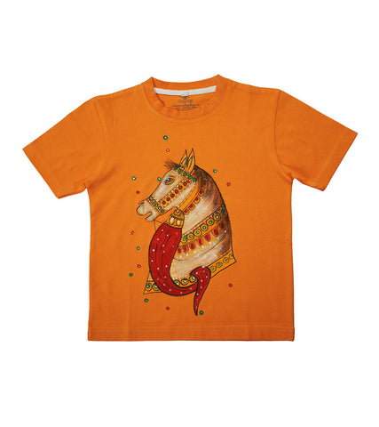 Handpainted Colorful Horse T-shirt