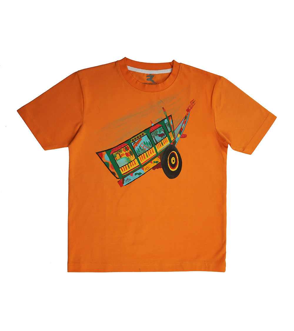 Hand-painted Colorful Cart T-shirt - RANGRAGE  - 1