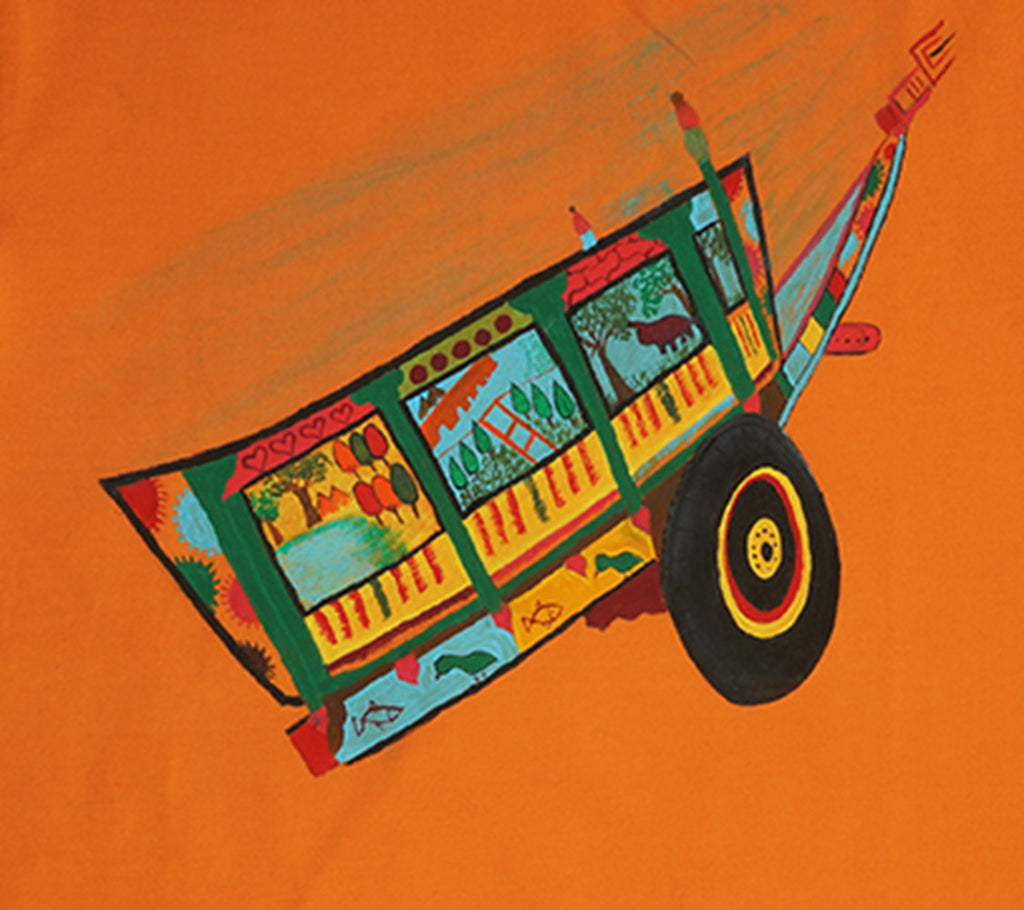 Hand-painted Colorful Cart T-shirt - RANGRAGE  - 2