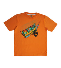 Hand-painted Colorful Cart T-shirt - Rang Rage  - 1