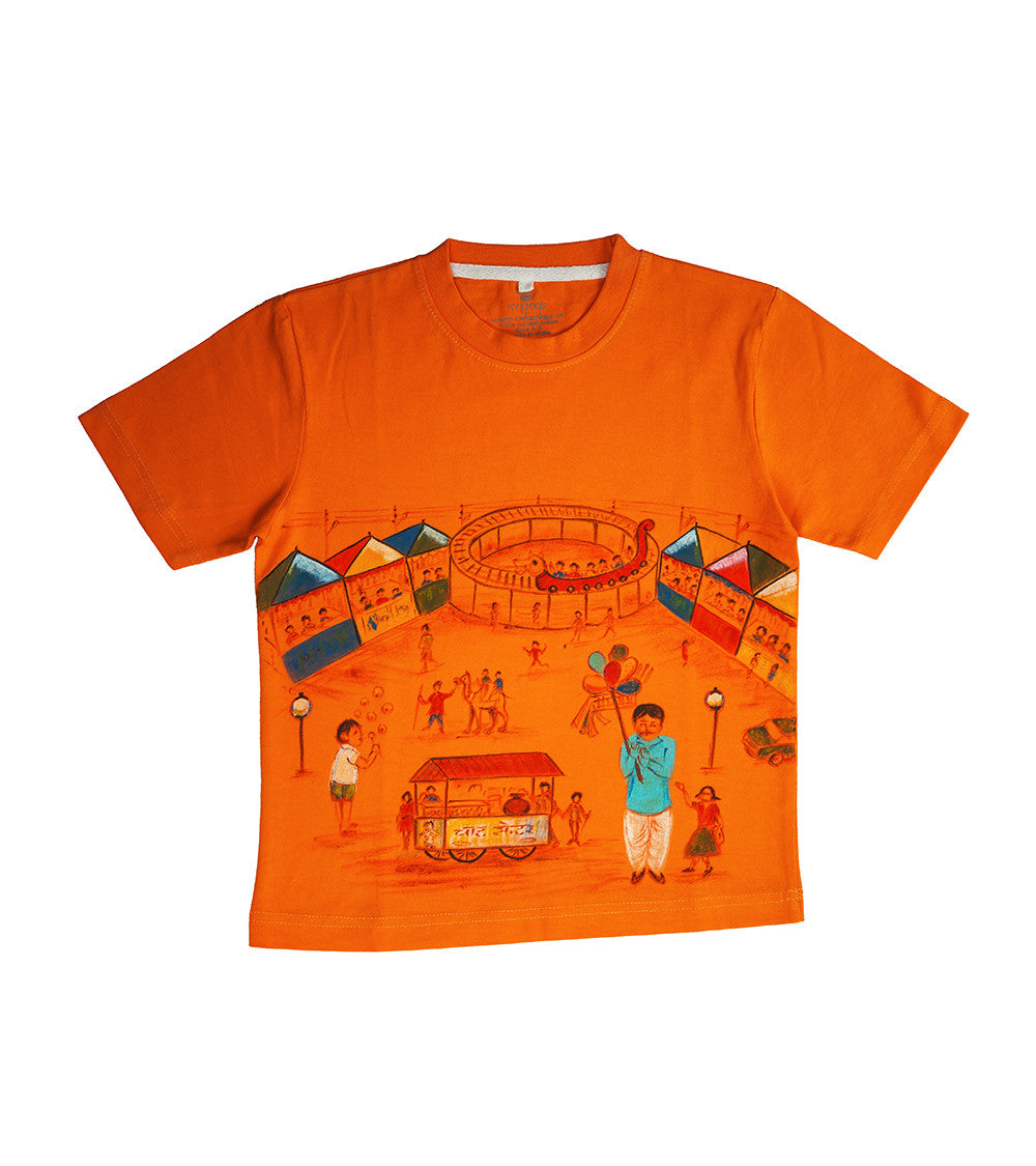 Hand-painted Mela T-shirt - RANGRAGE  - 1