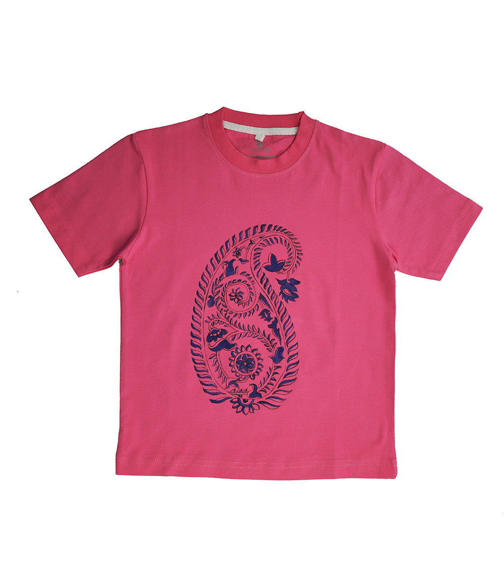 Hand-painted Paisley T-shirt - RANGRAGE  - 1