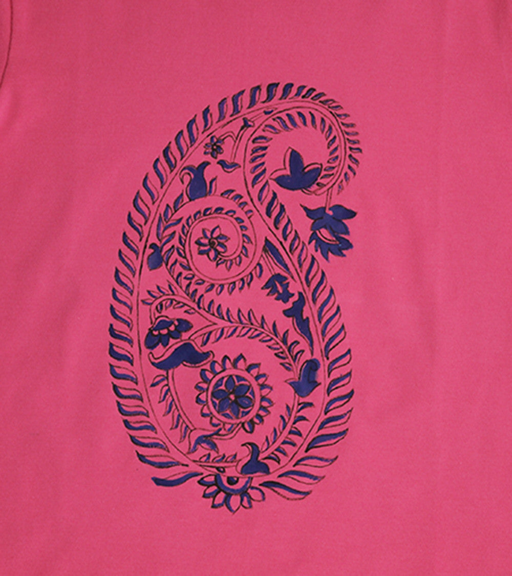 Hand-painted Paisley T-shirt - RANGRAGE  - 2