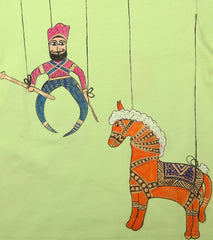 Hand-painted Puppet & Horse T-shirt - Rang Rage  - 2