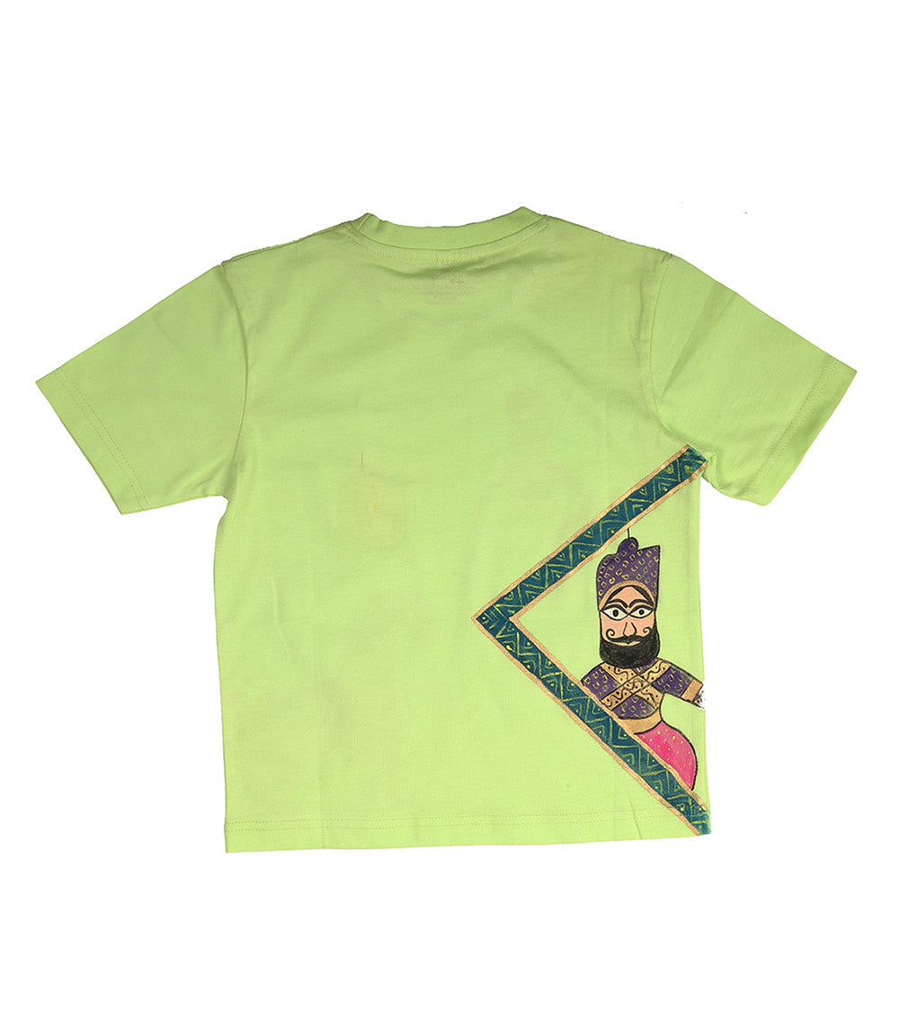 Hand-painted Puppet & Horse T-shirt - Rang Rage  - 3