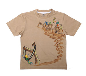 Hand-painted Angry Bird Warli T-shirt - RANGRAGE  - 1