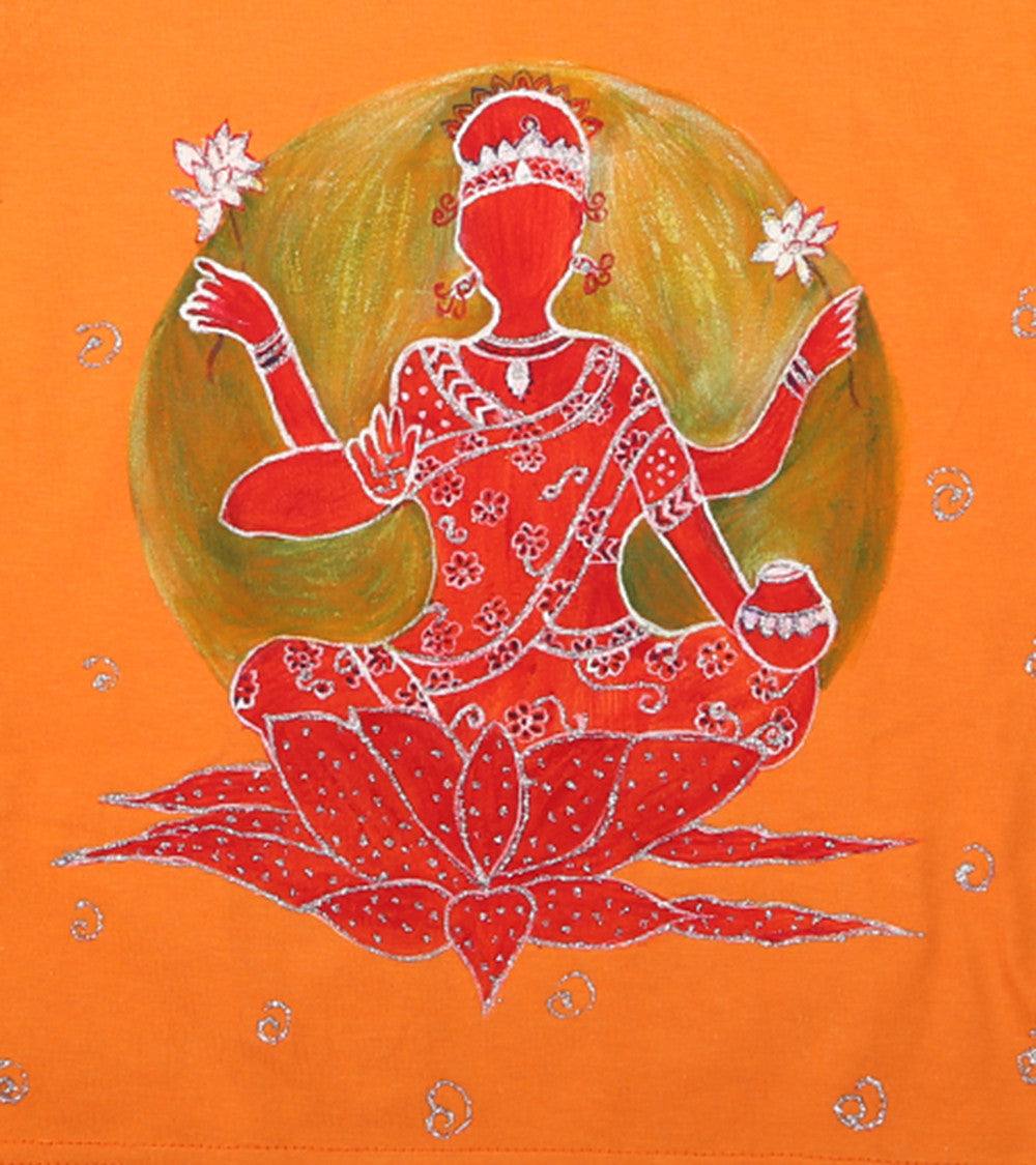 Hand-painted Laxmi Goddess T-shirt - RANGRAGE  - 2