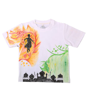 Hand-painted Love India T-shirt - RANGRAGE  - 1