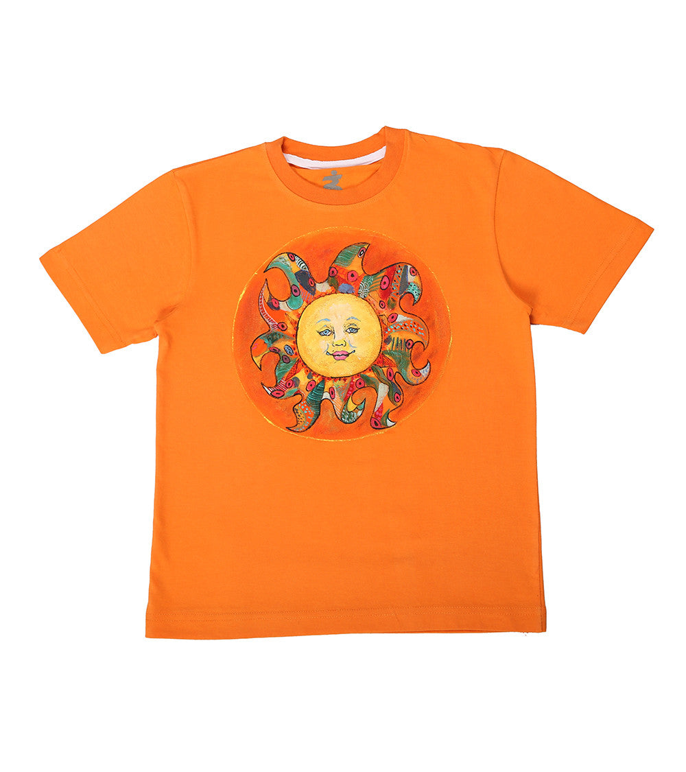 Hand-painted Colorful Sun T-shirt - Rang Rage  - 1