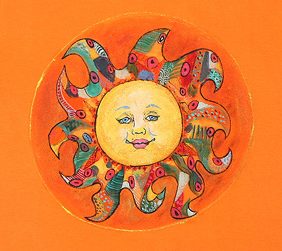 Hand-painted Colorful Sun T-shirt - Rang Rage  - 2