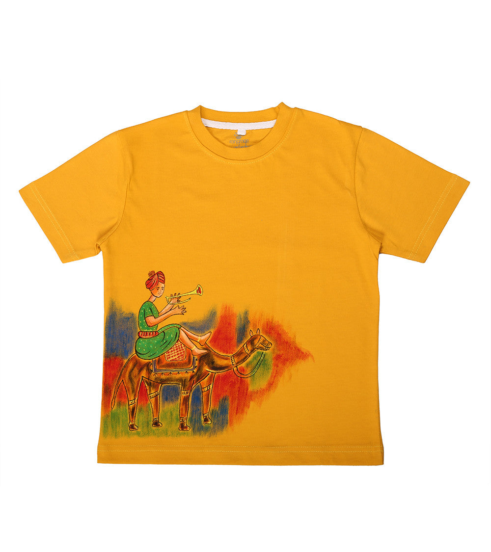Hand-painted Camel Ride T-shirt - Rang Rage  - 1