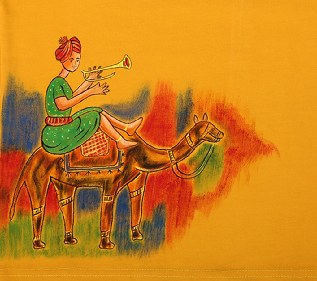 Hand-painted Camel Ride T-shirt - RANGRAGE  - 2