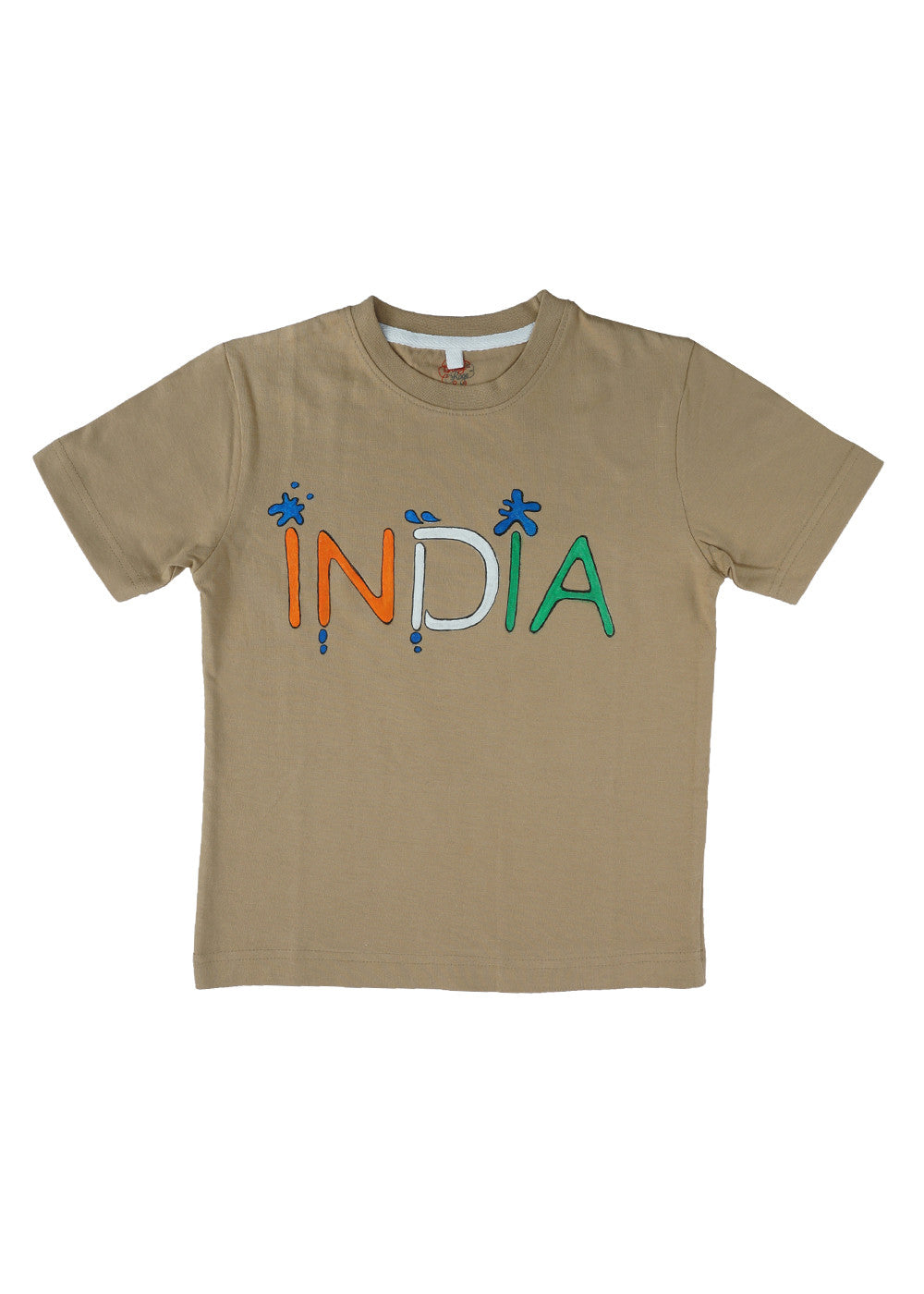 Hand-painted India T-shirt - RANGRAGE  - 1