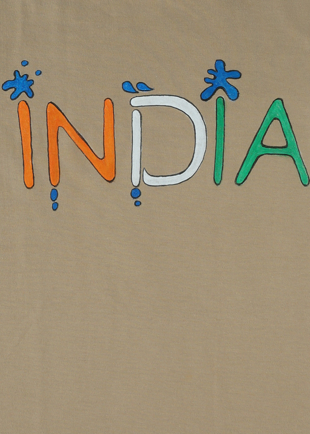Hand-painted India T-shirt - RANGRAGE  - 2