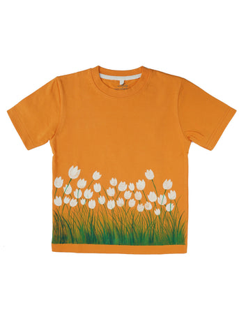 Hand-painted Breezy Flowers T-shirt