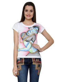 Hand-painted Indian Lady T-shirt - RANGRAGE  - 1