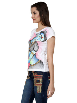 Hand-painted Indian Lady T-shirt - RANGRAGE  - 3