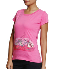 Hand-painted Milkmen Cycle Pink T-shirt - RANGRAGE  - 2