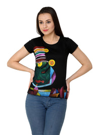 Hand-painted Kathakali Abstract T-shirt - RANGRAGE  - 1