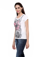 Hand-painted Summer Pink Splash T-shirt - RANGRAGE