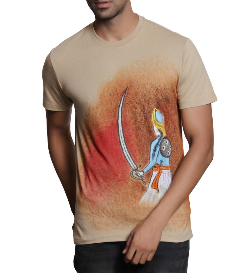 Hand-painted Royal Warrior T-shirt - RANGRAGE  - 1