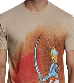 Hand-painted Royal Warrior T-shirt - RANGRAGE  - 3