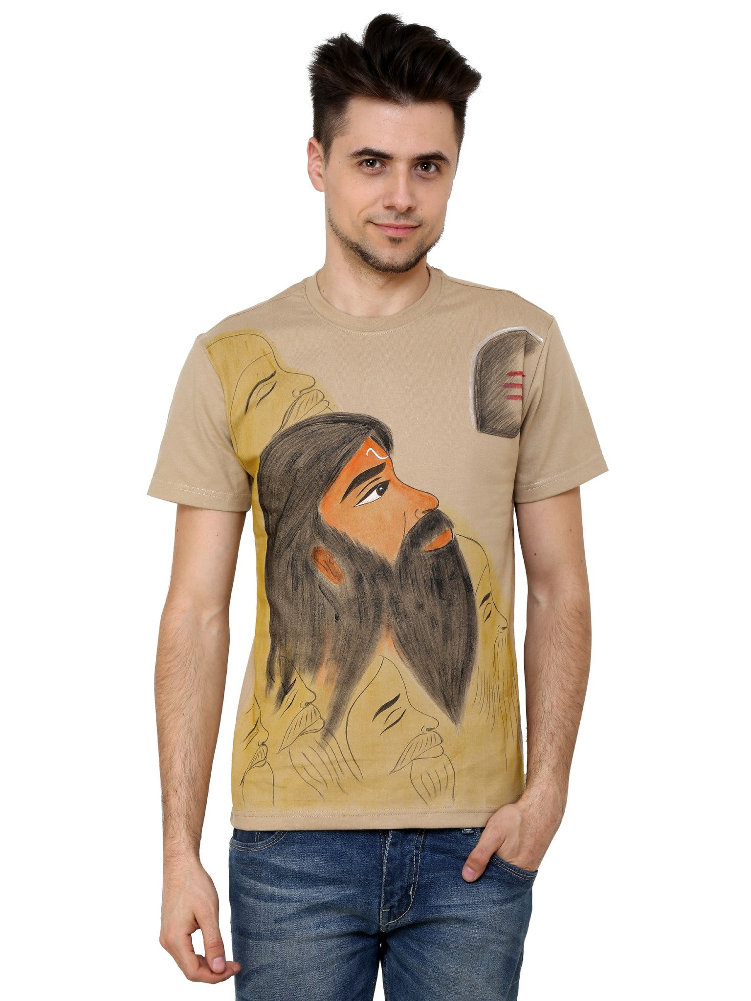 Hand-painted Indian Sage T-shirt - Rang Rage  - 1