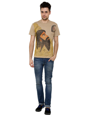Hand-painted Indian Sage T-shirt - RANGRAGE  - 4