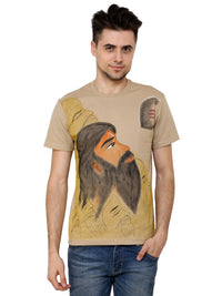 Hand-painted Indian Sage T-shirt - RANGRAGE  - 1