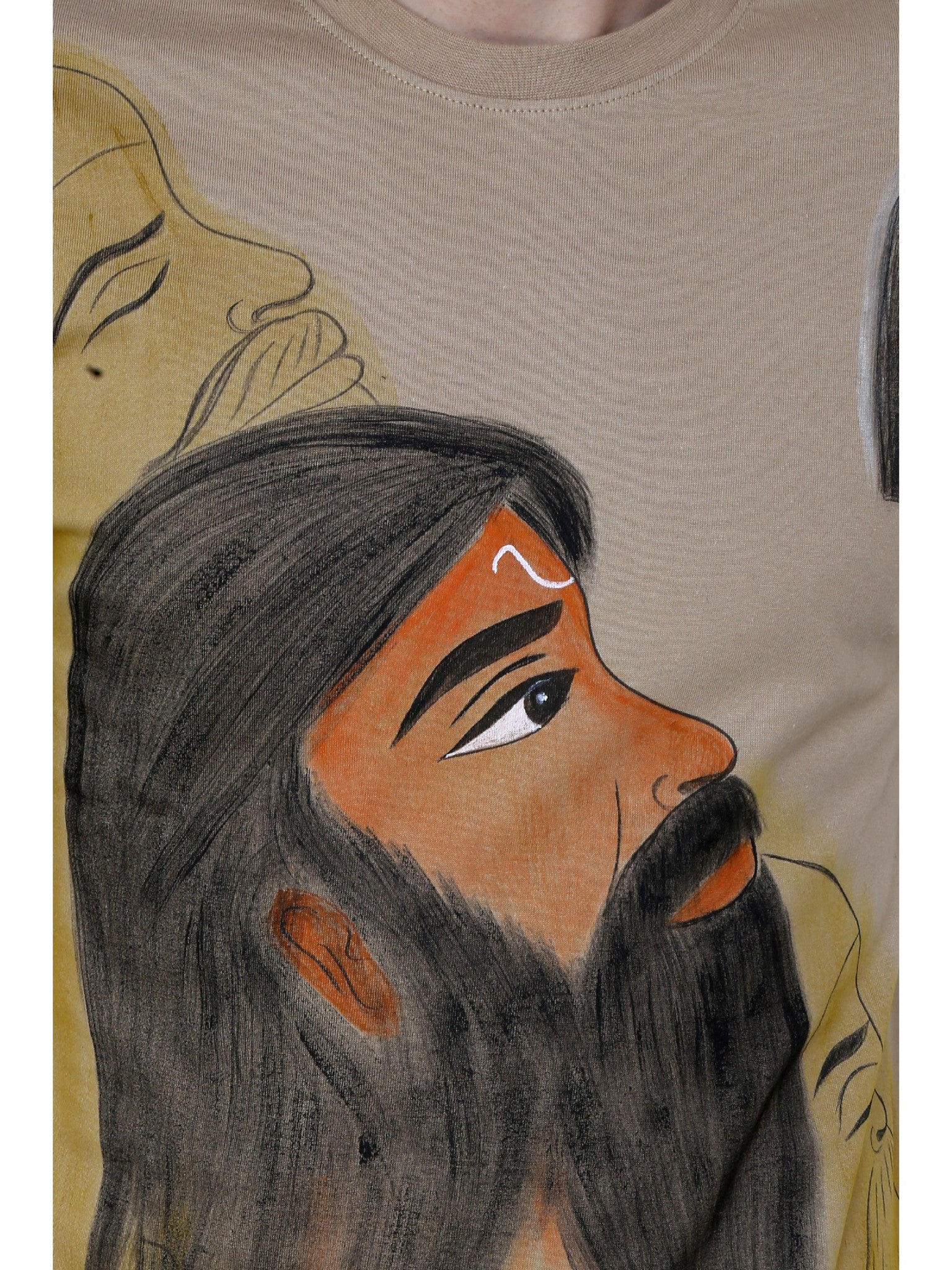 Hand-painted Indian Sage T-shirt - Rang Rage  - 5