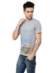 Hand-painted Vintage Car Grey T-shirt - Rang Rage  - 3