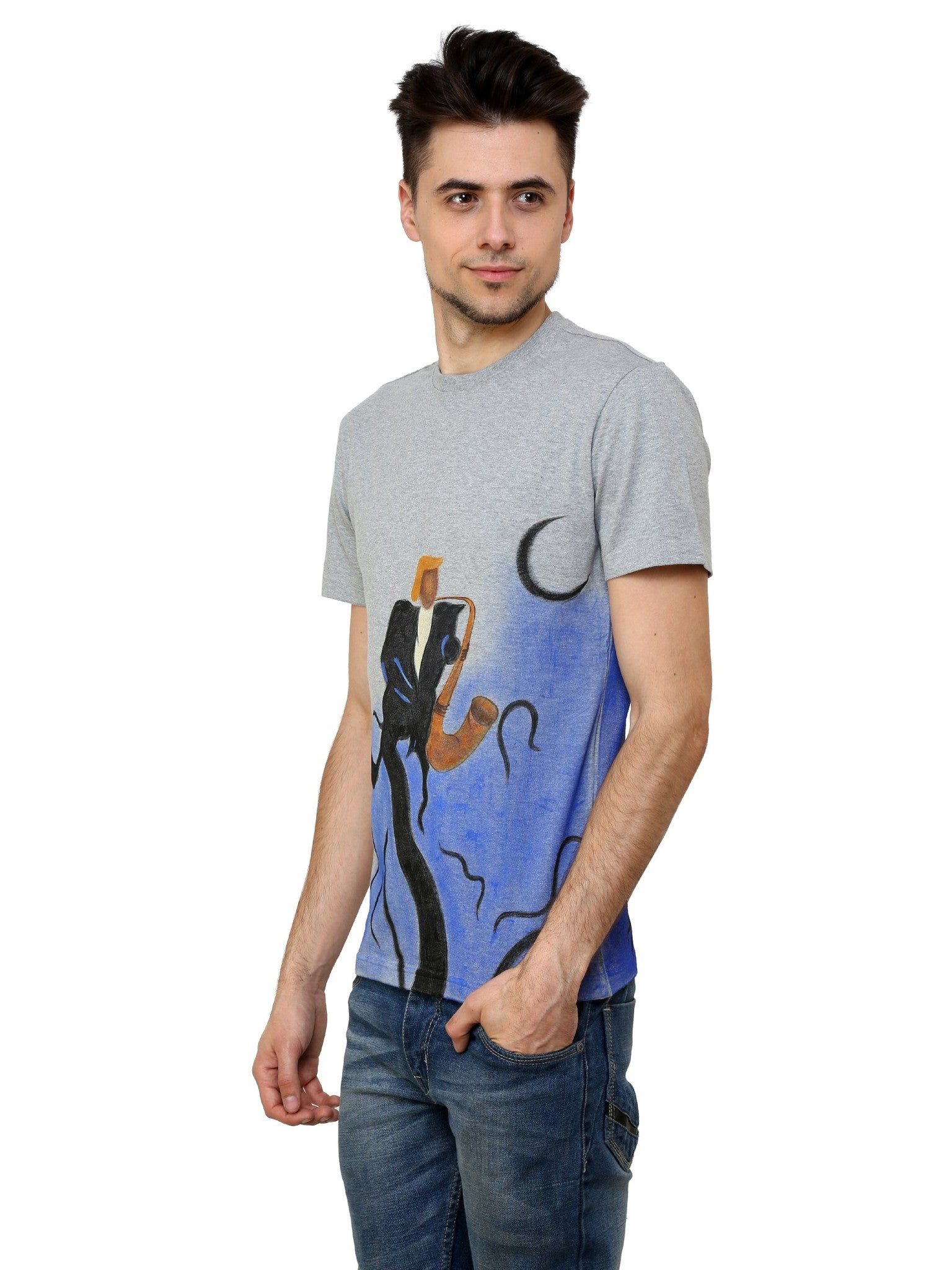 Hand-painted Music of Life T-shirt - Rang Rage  - 3
