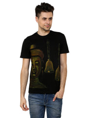 Hand-painted Buddha and Bells T-shirt - Rang Rage