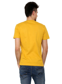 Hand-painted  Abstract Flow Yellow T-shirt - RANGRAGE