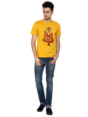 Hand-painted Kathakali Men Yellow T-shirt - Rang Rage  - 4