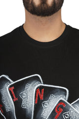 Hand-painted Reigning King Black T-shirt - Rang Rage  - 5