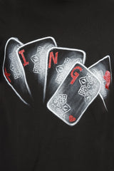 Hand-painted Reigning King Black T-shirt - Rang Rage  - 6