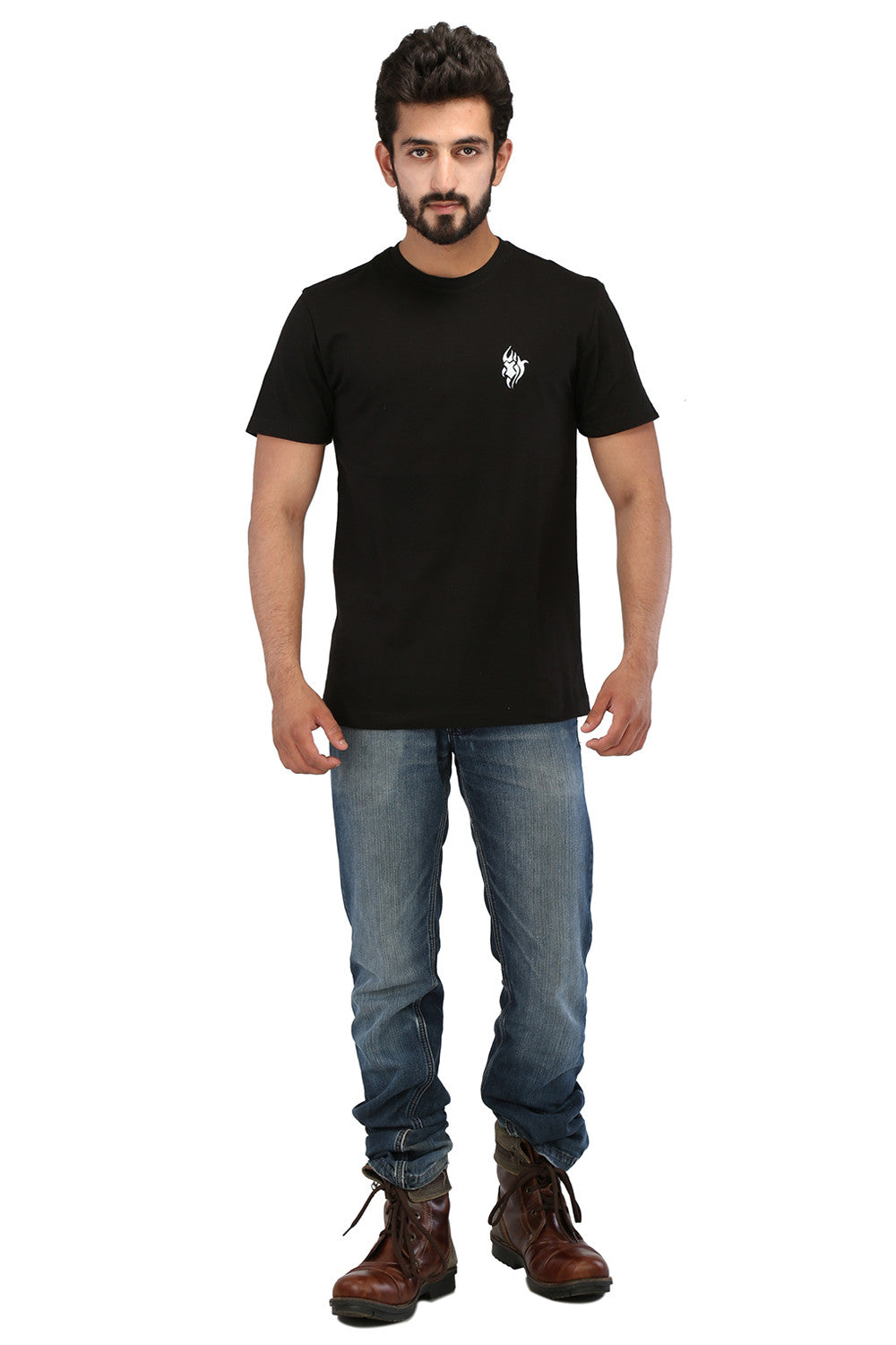 Hand-painted Tribal Tales Black T-shirt - Rang Rage  - 4