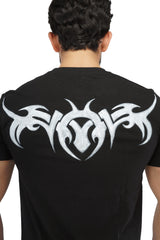 Hand-painted Tribal Tales Black T-shirt - Rang Rage  - 6