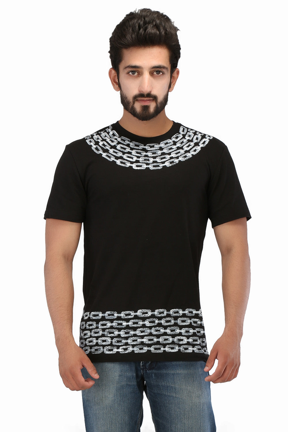 Hand-painted Timeless Bond Black T-shirt - Rang Rage  - 1