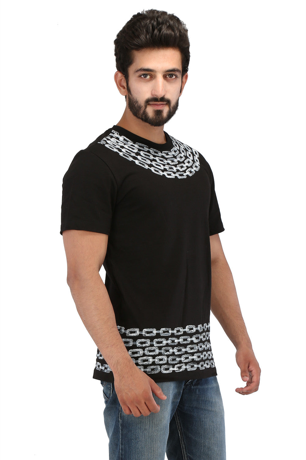 Hand-painted Timeless Bond Black T-shirt - Rang Rage  - 3