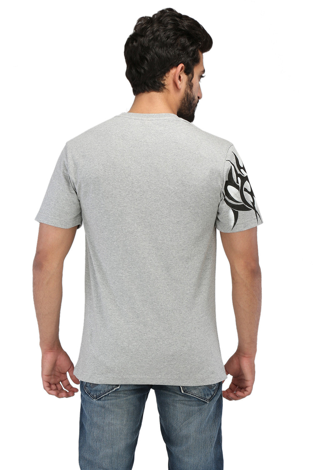 Hand-painted Tribal Muse Grey T-shirt - Rang Rage  - 2