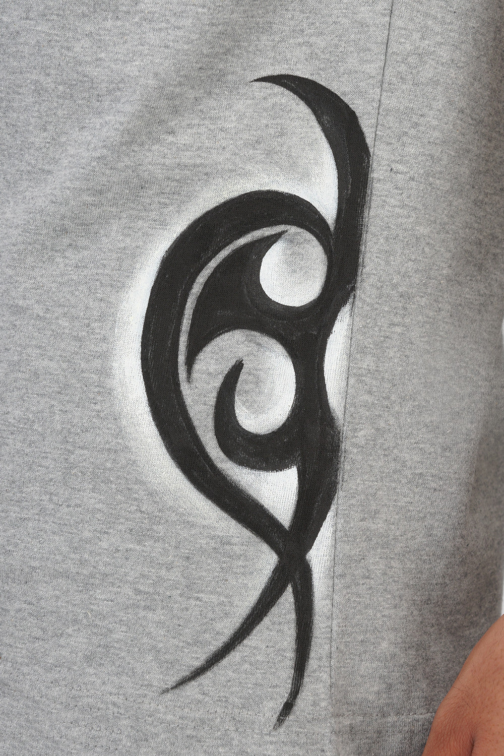 Hand-painted Tribal Muse Grey T-shirt - Rang Rage  - 7